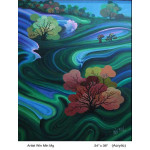 View of Shan State in Myanmar (Painting)