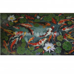 Swimming  Japanese Fishes Painting