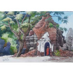 Monk and An Ancient Pagodas in Bagan