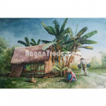 Working at plantation Painting