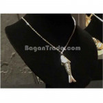 Swimming Fish Design Silver Necklace