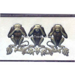 Three Wise Monkeys Embossed painting