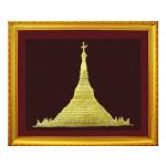 The Shwedagon Pagoda Embossed Painting