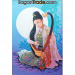 Lady Play with Myanmar harp by Win Min Mg