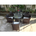 Poly Rattan furniture dining set