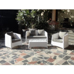 Poly rattan 2 seater sofa set