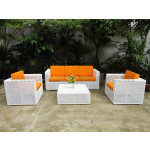 Poly rattan Flat sofa