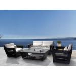 Poly rattan Flat 2-seater sofa