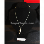 Handmade silver necklace with jumping fish design