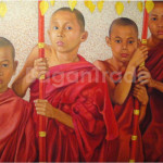 Four Monks Oil Painting
