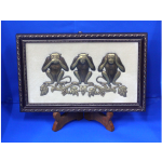 Embossed Painting Three Wise Monkeys