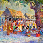 People in the market of Myanmar