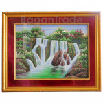 Waterfall with Mountain design Gem Stones Painting