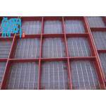 Slotted wedge wire screens panel for mining industry
