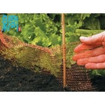 Knitted wire mesh for protect plants in the garden